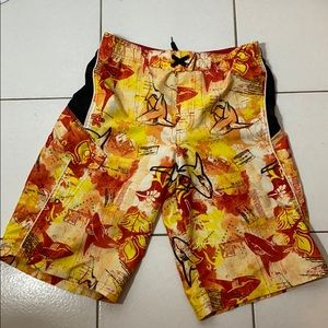 OP SHARK SWIM Trunks XL MAUI  Orange Red BOARD